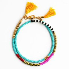 Beaded Wrap Bracelet (turquoise multi) | The Coconut Room | @thecoconutroom_