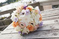 Lake Washington Pastel Wedding » Carolyn + Dennis from Taylor'd Events Group | Florist: Fena Flowers; Photography: Jean-Marcus Photography #pastelwedding #bridalbouquet
