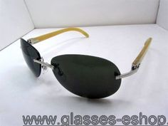 981f945e6ca9 Cartier 3524016 Yellow Buffalo Sunglasses in Silver with Dark le