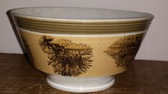 Antique Banded Mocha Ware Mochaware Bowl / Seaweed on Sand / Early 19th C  Offered on ebay for $275