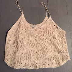 American Eagle crochet top Only worn once! Super cute and would be great for summer! Tops Tank Tops