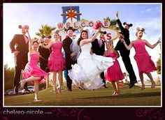 hot pink wedding party - Google Search