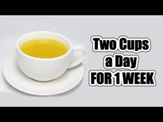 ONLY TWO CUPS A DAY FOR 1 WEEK FOR A COMPLETELY FLAT STOMACH !  