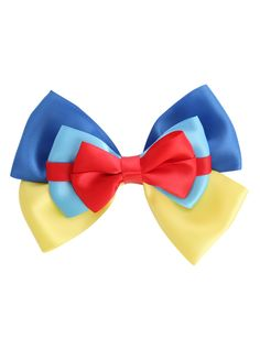 Disney hair clip with Snow White And The Seven Dwarfs cosplay ribbon bow design.