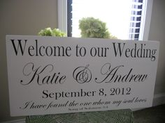 Wedding signs, Personalized with Religous verse and Established date.. $54.95, via Etsy.