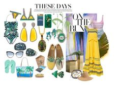 """""""On Vacation"""" by sarahhughes-net on Polyvore featuring O'Keeffe, Tory Burch, Christina Debs, Cole & Son, Minimal, Dolce&Gabbana, Gucci, David Yurman, Varaluz and Karl Lagerfeld"""