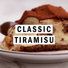 Classic Tiramisu Classic Tiramisu,Food porn Classic Tiramisu is an easy Italian dessert recipe made with ladyfingers, coffee, and creamy mascarpone cream. This recipe video will help you make a classic and incredibly delicious sweet. Köstliche Desserts, Best Dessert Recipes, Sweets Recipes, Coffee Recipes, Baking Recipes, Delicious Desserts, Cake Recipes, Dessert Recipe Video, Easy Food Recipes
