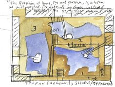 Steven Holl completes the Sliced Porosity Block, a cluster of five geometric towers around a public plaza in Chengdu, China. Open Architecture, Contemporary Architecture, Steven Holl, Mixed Use, Hand Sketch, Crow, Art Sketches, Chengdu, Drawings