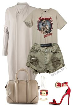 """""""Dope"""" by efiaeemnxo ❤ liked on Polyvore featuring Rick Owens, Givenchy, Jennifer Fisher, Fendi and Dean Harris"""