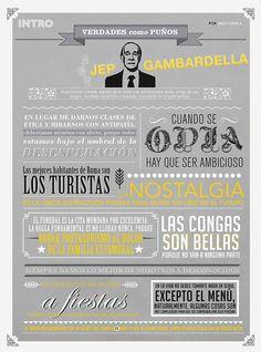 INFOGRAFÍA: Grandes frases de Jep Gambardella (Vía @GQSpain)