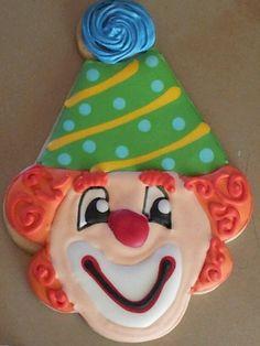 Cute Clown Sugar Decorated Cookie