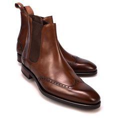 Handmade men brown boots, wingtip chelsea and 50 similar items