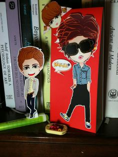paper DOLL and standing CARD