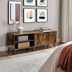 Latitude Run® Connie-Agnes TV Stand | Wayfair Tv Stand Console, Console Cabinet, Media Cabinet, Open Shelving, Adjustable Shelving, Shelves, Living Room Storage, Storage Spaces, Armoire Tv