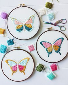 Butterfly Embroidery Pattern PDF Pattern Nature Inspired