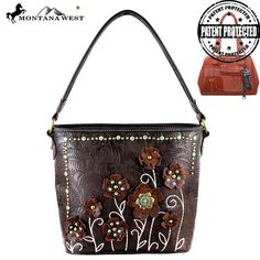 MW283G-916 Montana West Tooled Concealed Carry Handbag