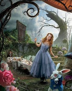 tim burton- alice in wonderland. I would love a realistic tattoo from this movie