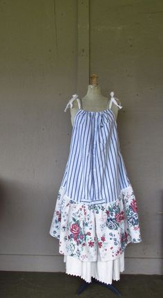 15 off  Bohemian French shabby jumper dress by lillienoradrygoods, $84.50
