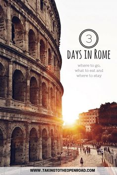 With just 3 days in Rome, you'll want to know where to go, what to see and where to eat. This 3 day travel itinerary to Rome hits all the highlights and is perfect if you're looking for a good balance of history, art, and of course, delicious Italian food