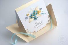 Ażur i perłowo-złoty papier | Kartki ręcznie robione, zaproszenia ślubne handmade Poznań