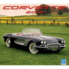 Corvettes Wall Calendar: Whether you are driving a Corvette coupe or convertible, you are steering a work of art. This nimble car with its sleek designs and robust engine is king of the road. This classy calendar is ideal for any Corvette aficionado.  http://www.calendars.com/Sports-Car/Corvettes-2013-Wall-Calendar/prod201300005190/?categoryId=cat00692=cat00692#
