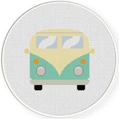 FREE for June 2nd 2016 - Retro Van Cross Stitch Pattern