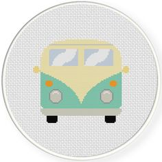 FREE for June 2nd 2016 - Retro Van Cross Stitch Pattern