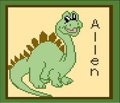 Dino Baby comes with Graph letters you can use to personalize your graphgan.
