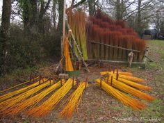 cliquez pour agrandir la photo Willow Weaving, Basket Weaving, Organic Gardening, Gardening Tips, Sisal, Willow Garden, Garden Trellis, Land Art, Growing Vegetables