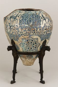 "indigenousdialogues: "" The Alhambra Vase Late - Early century Nasrid period Earthenware painted over glaze H: W: cm Spain ""Mariano Fortuny, the famed textile and costume designer,."