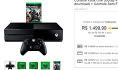 Console Xbox One 500GB  Game Gears of War 4  Controle Sem Fio << R$ 123112 >>