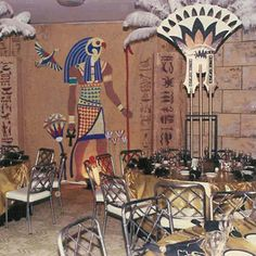 Props help transform any space these egyptian props are available egyptian themed party gold fabric for facial table junglespirit Images