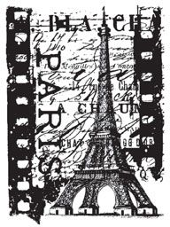 *Tim Holtz Cling Rubber ATC Stamp PARIS FILM Stampers Anonymous