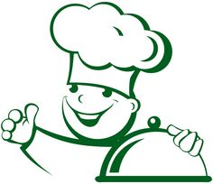 Sticker Cuisine - Cuisinier  avec Cloche                              …