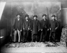 Studio portrait of Chinese-American men who include Wa Chin and Tang Ya-Shun in Georgetown, between 1890 and 1910  (Clear Creek County), Colorado,  :: Western History