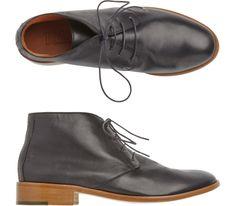 Home Desert Boot in Footwear Leather Chukka Boots, Black Leather Boots, Leather Shoes, Mens Shoes Boots, Men's Shoes, Shoe Boots, Desert Boots Women, Black Heels Low, Low Heel Boots