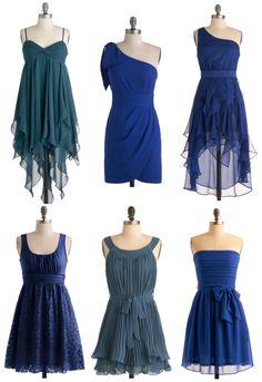 mismatch blue bridesmaid | Mismatched Bridesmaid Dresses Blue — Wedding Ideas, Wedding Trends ...