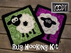 Your place to buy and sell all things handmade Craft Kits, Diy Kits, Adult Crafts, Easy Crafts, Sheep Rug, Rug Hooking Kits, Sheep Crafts, How To Draw Hands, Stitch
