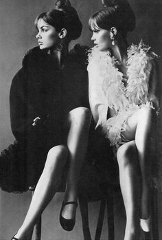 Jean Shrimpton & Celia Hammond by Helmut Newton for Vogue UK, June 1966