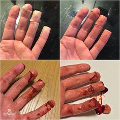 Making of the finger food effect #specialfx #specialeffects #specialeffectsmakeup #sfx #sfxmakeup #fxmakeup #fx #makeup #mua