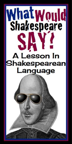 An engaging lesson to use before reading ANY Shakespearean play! Introduces students to common vocabulary used by the Bard :)
