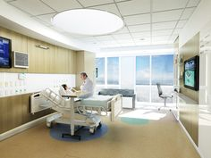 Miami Children's Hospital Critical Care Bed Tower Perkins+Will