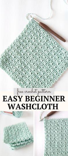 Spa Crochet Patterns, Knitted Washcloth Patterns, Wash Cloth Crochet Pattern, Beginner Crochet Patterns, Crochet Sock Pattern Free, Crochet Quilt Pattern, Beginner Crochet Tutorial, Dishcloth Knitting Patterns, Crochet Ideas