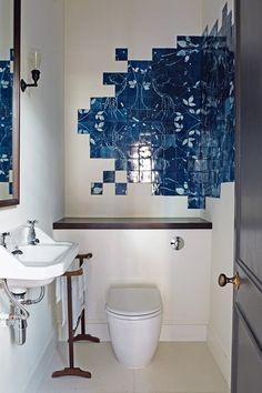 Unusual Blue Bathroom Tiles - Bathroom Design Ideas & Images (houseandgarden.co.uk)