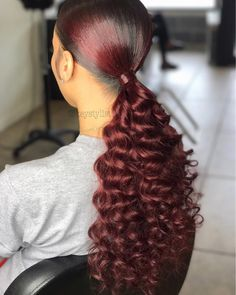 🤗 note: of my clientele have natural hair (no relaxers & chemical free) Weave Ponytail Hairstyles, Dope Hairstyles, Ponytail Styles, Curly Hair Styles, Natural Hair Styles, Side Ponytails, Straight Hairstyles, Love Hair, Gorgeous Hair