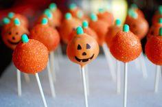 ADORABLE pumpkin cake pops!!! SO perfect!