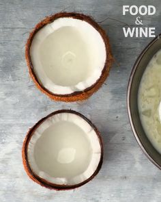 Its Friday. You should definitely be drinking something boozy out of a coconut right now. [Recipe in our bio! Best Weight Loss Foods, Glass Of Milk, Drinking, Coconut, Friday, Fit, Recipes, Beverage, Drink