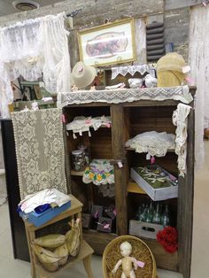 Prim Cabinet with great linen display