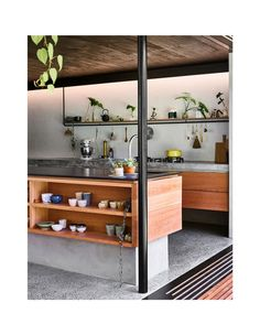 Jungle Treehouse Meets Urban Brisbane Home (The Design Files) Brisbane, Layout Design, Modern Japanese Interior, Jungle House, Jungle Tree, Interior Architecture, Interior Design, Narrow House, Ikea