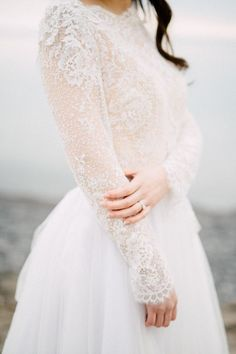 32 Winter Wedding Dresses Perfect For A Cold Day Long Sleeve wedding Dress - Winter Wedding Dresses Wedding Dress Winter, Wedding Dress Types, Winter Dresses, Wedding Gowns, Stunning Wedding Dresses, Cold Wedding, Lace Wedding, Snowy Wedding, Winter Bride